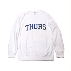 THURSDAY - COLLEGE LOGO CREWNECK (White)