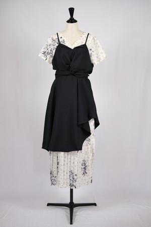 【AKIKOAOKI】Athens dress - flower × black combi