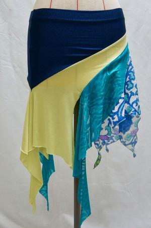 マルチカラースカート(ブルーMIX)
