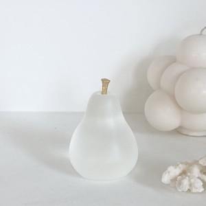 pear paper weight / ペア ペーパーウェイト オブジェ 洋梨 ゴールド 半透明 文鎮 韓国 北欧 インテリア 雑貨