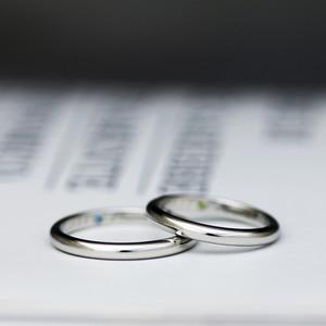 シンプルな甲丸or平打ストレートのマリッジリング・結婚指輪【プラチナ (Pt950)】【鍛造】【選べる形状と仕上げ】