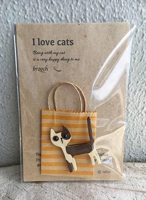 I love cats ねこブローチ 018