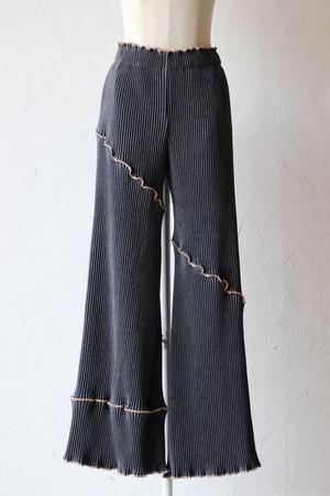 【kotohayokozawa】pleats pants-indigo