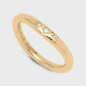 PORTADA BABY RING ESQUINA(LADY'S MODEL)K18YG(ポルターダ ベビーリング エスキーナ レディースモデル K18イエローゴールド ダイヤモンド)