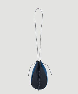吉岡衣料店 Draw String Bag L For BEST PACKING STORE Black×Navy DSB-0002