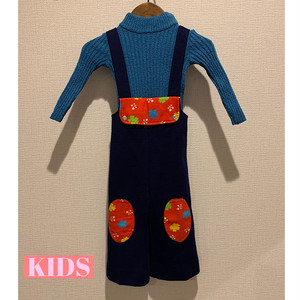 【KIDS】 <Petit Bateau> VINTAGE 70's Jumpsuit and sweater - French -