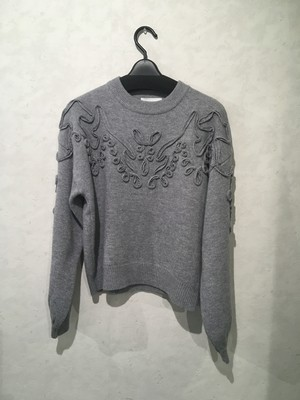CLANE TAPE EMBROIDERY KNIT TOPS