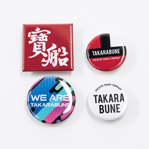 缶バッチ4点SET(button badge)【Standard/Colorful/Yukata/White】