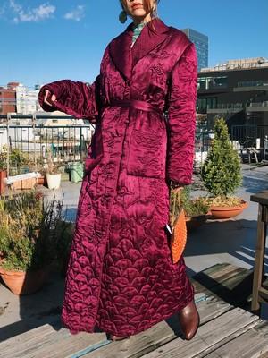 70s purple quilting coat ( ヴィンテージ パープル キルティング コート )