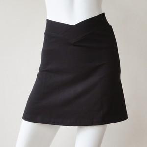 (Lサイズ)ショートスカート薄手 ブラック [YS.01CL/L-BLACK]