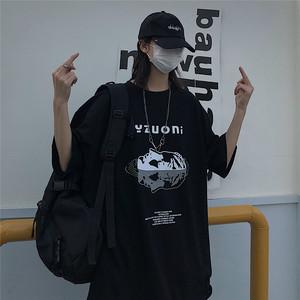 【トップス】ストリート系アルファベットラウンドネック半袖Tシャツ27313203