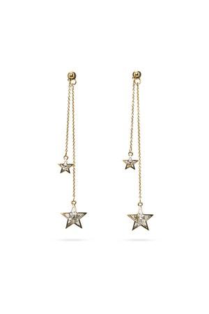 Double Star Swing Earrings | GOLD