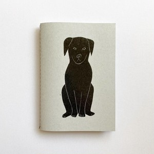 notebook (black dog) (A6)