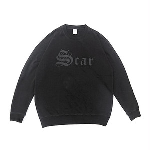 scar /////// 7/ OE CREWNENCK SWEAT (Black)