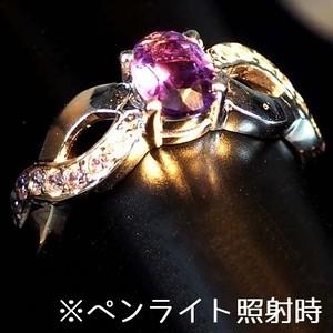 可愛らしい0.50ct! カラーチェンジ アメジスト リング 指輪 15号 ブラジル産