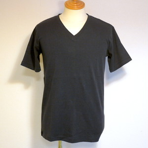 High Tension Circular Rib V Neck TEE Navy