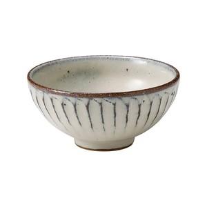 信楽焼 へちもん 飯碗 小 白釉彫 MR-3-3487