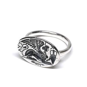 Vintage Mexican Egyptian Sphinx Intaglio Ring