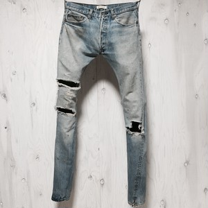 Levi`s 501 selvage crash&riri zip custom w32