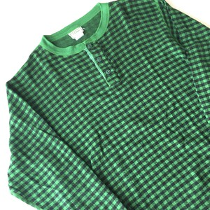 L.L.BEAN : 80's henry neck check c&s (used)