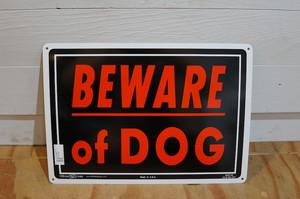 BEWARE OF DOG アルミサインプレート