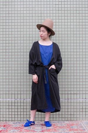 【Otsu】tasogare long - long sleeve with sleeve (t.black)