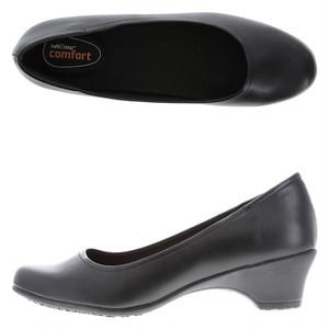 【雨や雪でも滑りにくい!】CA愛用パンプス 25.5cm〜30cm 低反発インソール 安全靴 超耐滑作業靴  レストラン