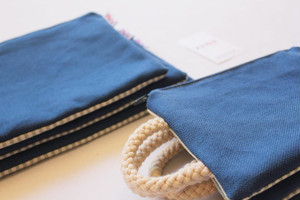 FEDE SAILOR BLU CANVAS POCHETTE S