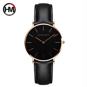 女性の時計クリエイティブトップブランド日本クォーツムーブメント時計ファッションシンプルな因果レザーストラップ女性の防水腕時計CH36-FH