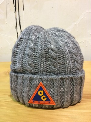 Acapulco Gold - AG ALL CONDITIONS CABLE KNIT HAT WITH RUBBER PATCH