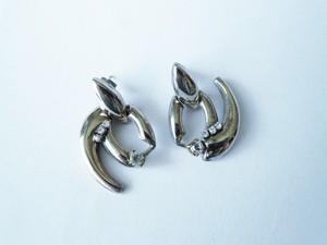 シルバーモチーフピアス vintage earrings CV <PE4 -L19>