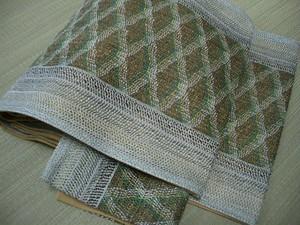 絹地 袋帯 紗金