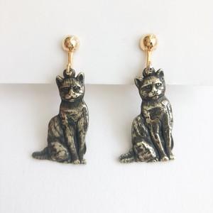 cat earring[e-1234] ヴィンテージイヤリング