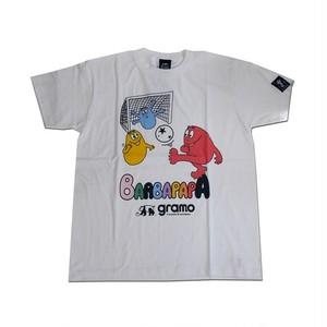 BARBAPAPA×gramo コラボ Tシャツ「pass-T」(ホワイト/T-018) ※S~Lサイズ