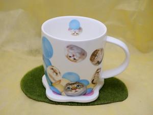 ヘンリーキャッツ&フレンズ マグカップ 猫集合柄 犬集合柄