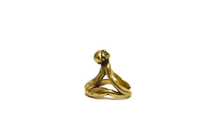 Human form Free size ring <Brass>