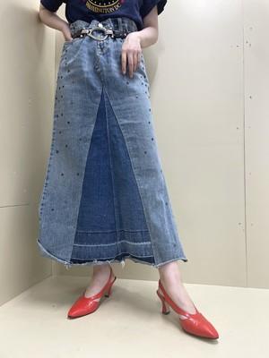 denim design skirt / 7SSSK07-07