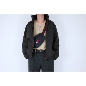 black zip up down jacket