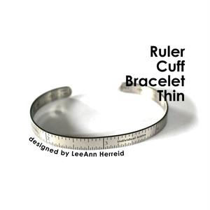 Ruler Cuff Bracelet Thin