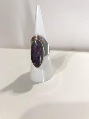 【12.5-13号】Vintage maxican silver × amethyst ring ( ヴィンテージ メキシカン シルバー × アメジスト リング )