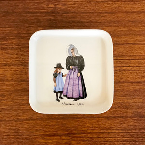 "Villeroy & Boch ""Huizen 1940"" Square Plate 60's Vintage (ビレロイボッホ)"