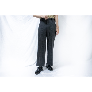 herring bone wool trousers