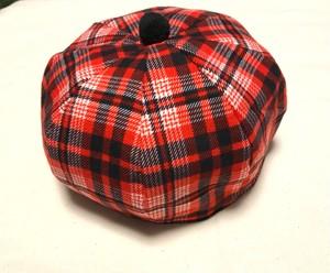 ベレー帽 赤チェック