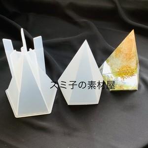 固定スタンド付★シリコンモールド★五角形