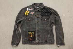 Off-Canal St / LV Vintage Levis Custom Denim Jacket Black