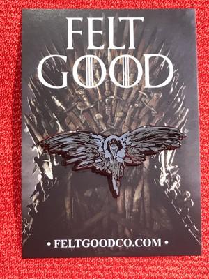 """FELT GOOD CO""""Three Eyed Raven Enamel Pin"""""""