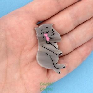 Coucou Suzette Grey Cat Hair Clip