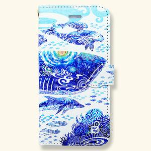 【受注生産】「青の世界」手帳型スマホケース
