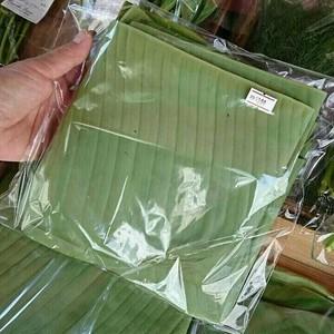 バナナの葉 ใบตอง Banana leaf   80g  )15cmX30 2-3枚程度 ※葉の大きさによって異なります