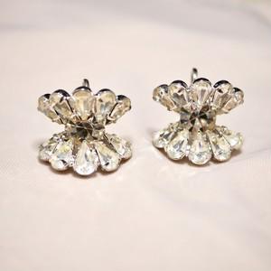 Rhinestone screw back earrings
